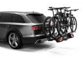Możliwość zwiększenia ładowności do 3 rowerów przez dodanie adaptera Thule VeloSpace XT Bike Adapter