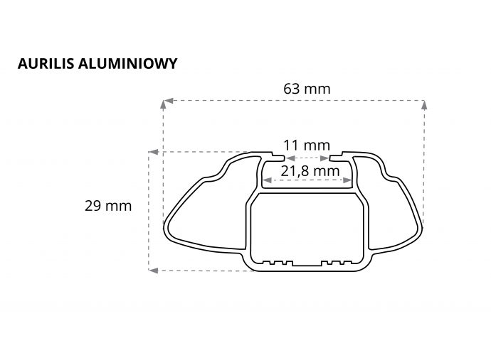 Aurilis belki aluminiowe 107 cm