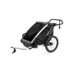Thule Chariot Lite2 przyczepka rowerowa Agave czarno-szara