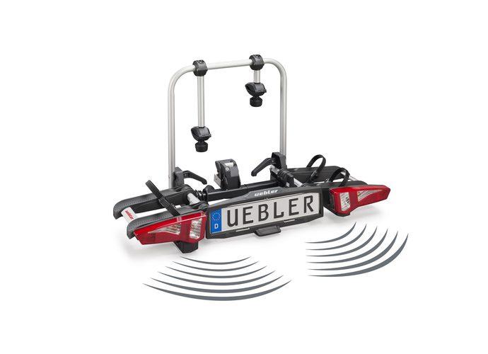 Uebler i21 - bagażnik na hak, na 2  rowery z czujnikem parkowania