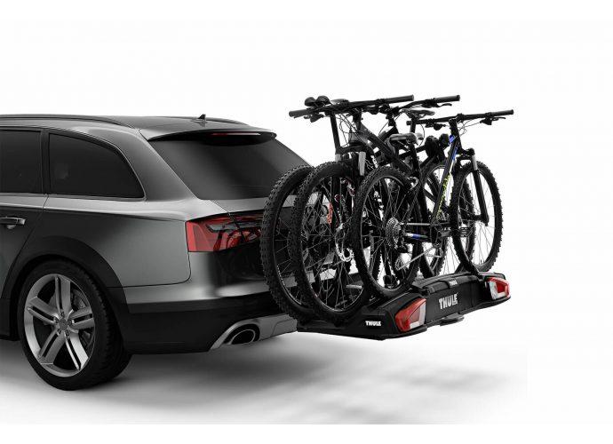 Możliwość zwiększenia ładowności do 4 rowerów przez dodanie adaptera Thule VeloSpace XT Bike Adapter