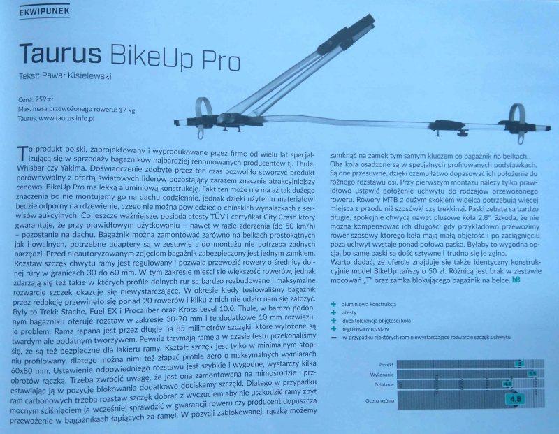 Taurus BikeUp Pro – atrakcyjny cenowo bagażnik rowerowy na wysokim poziomie