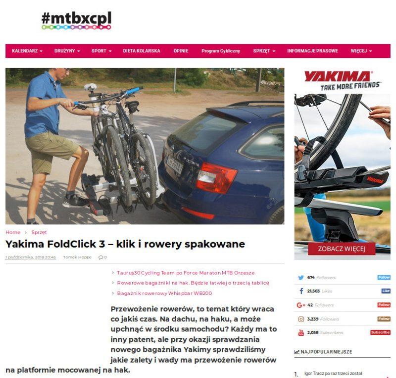 Yakima FoldClick 3 – prosty w obsłudze bagażnik wysokiej jakości