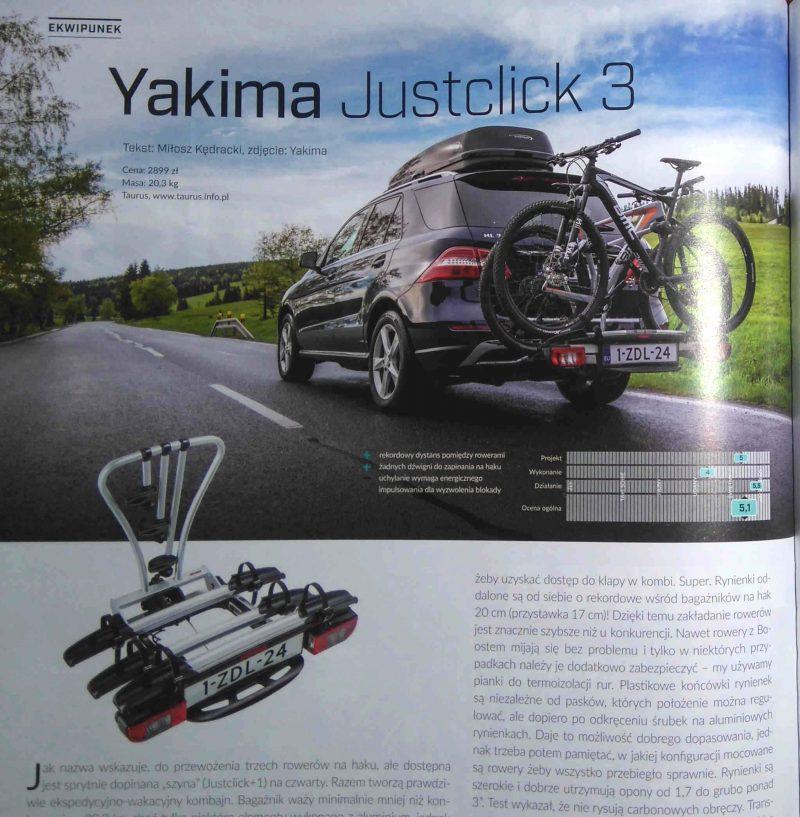 Yakima JustClick 3 – znakomita i uniwersalna platforma rowerowa