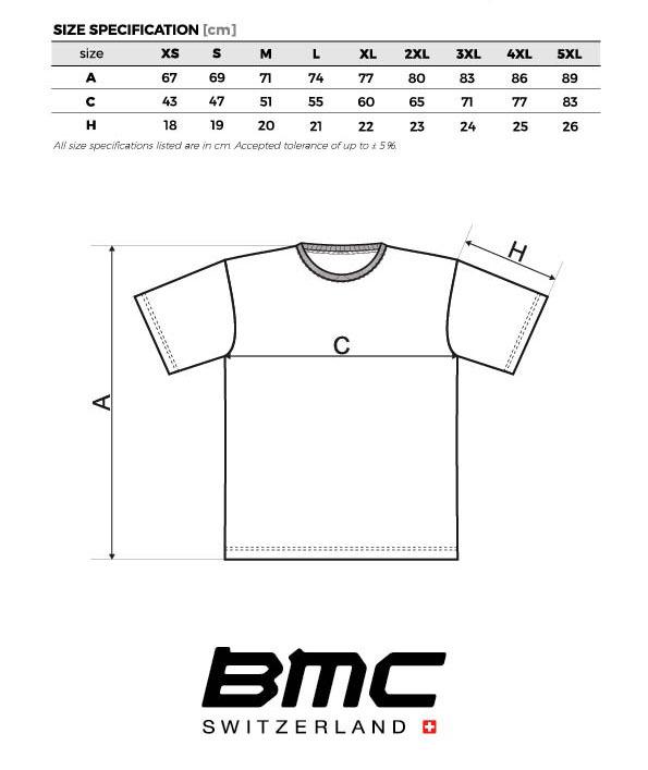 Tabela Rozmiarów BMC
